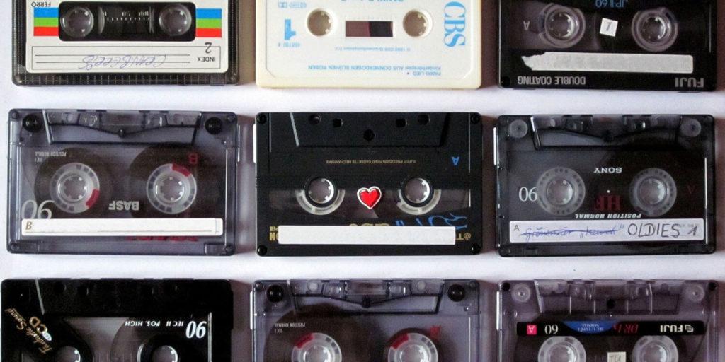 Unterschiedliche Marken bei Musik-Kassetten