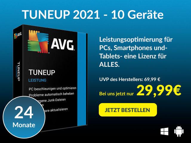 AVG TuneUp - Leistungsoptimierung für PCs, Smartphones & Tablets