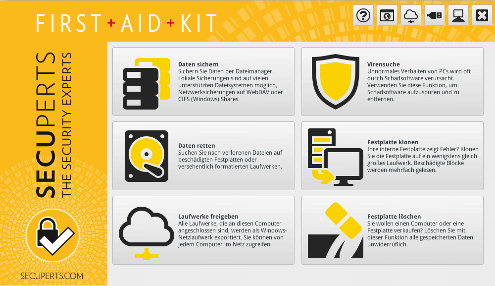 First Aid Kit für sicheres surfen im Netz