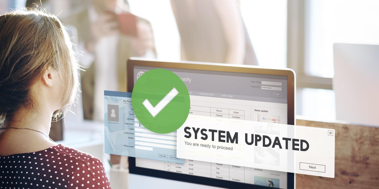 System und Software wird aktualisiert - zum Schutz vor Hacker und Viren